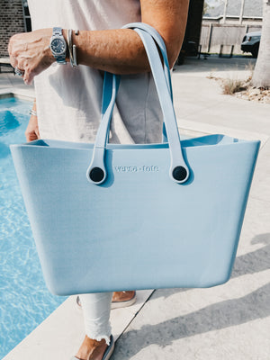 Versa Tote in Baby Blue - Large