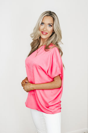 Satin One Shoulder Top