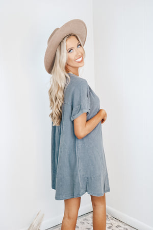 Acid Wash Charcoal Romper - Fly Boutique
