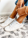 Vintage Havana White and Black Glitter Sneaker