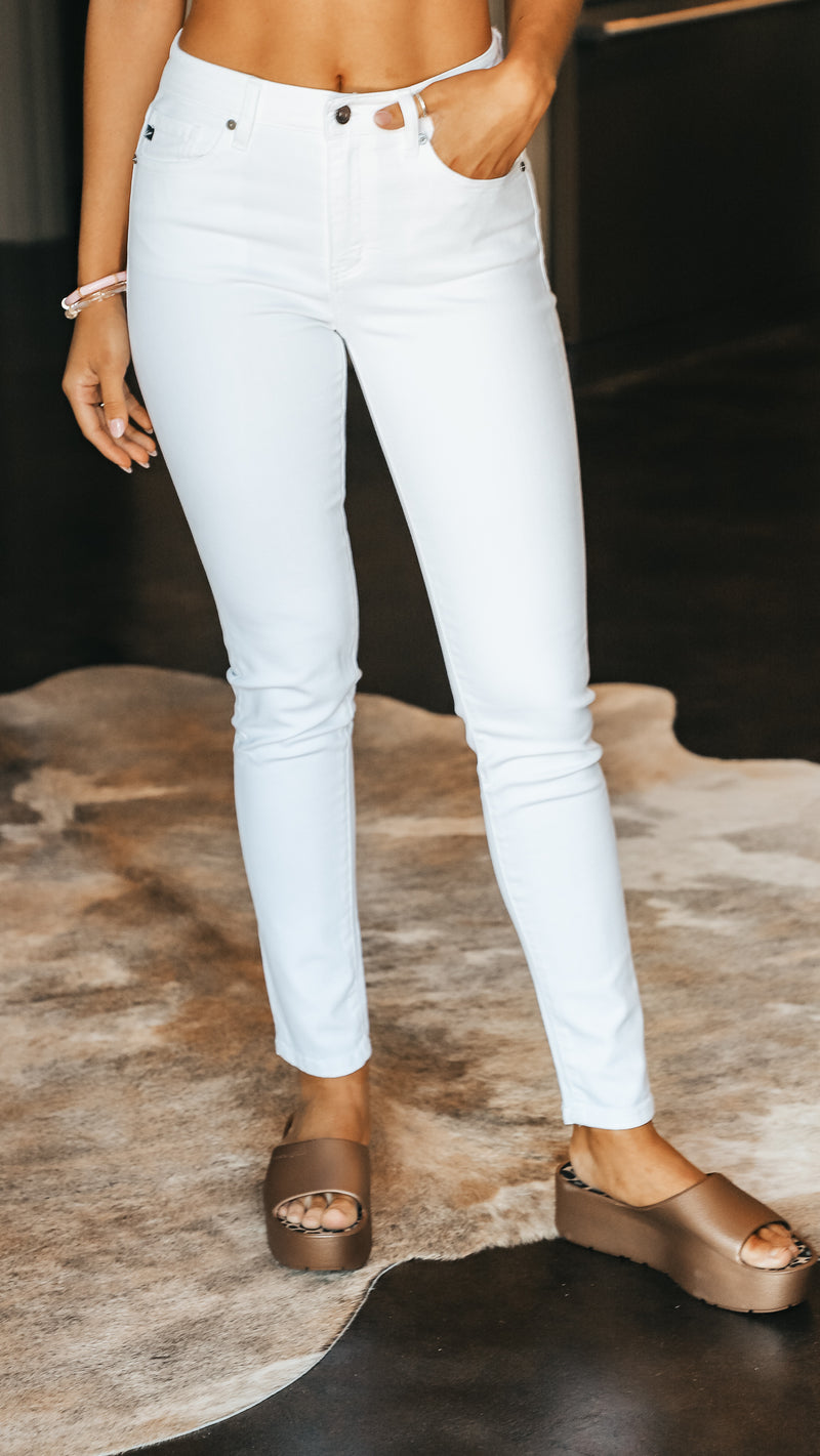 White High Rise Skinny Jean