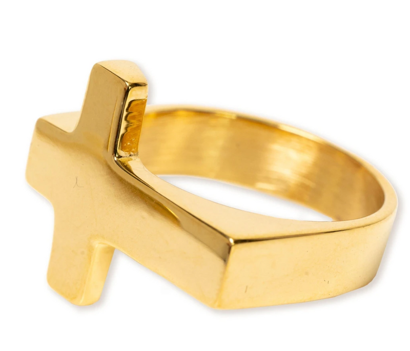 Bracha Signet Cross Ring