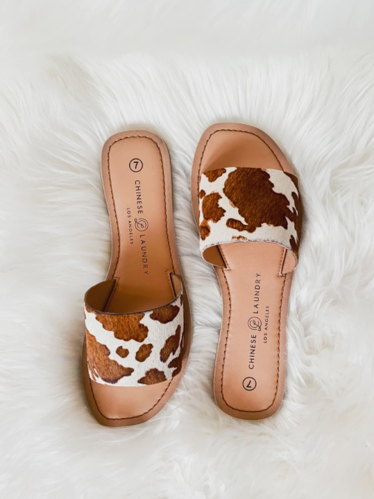 Chinese Laundry Cow Print Sandal