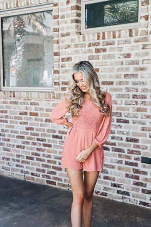 Lace Detail Romper