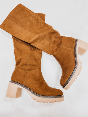 Miracle Mile Cognac Tall Boots