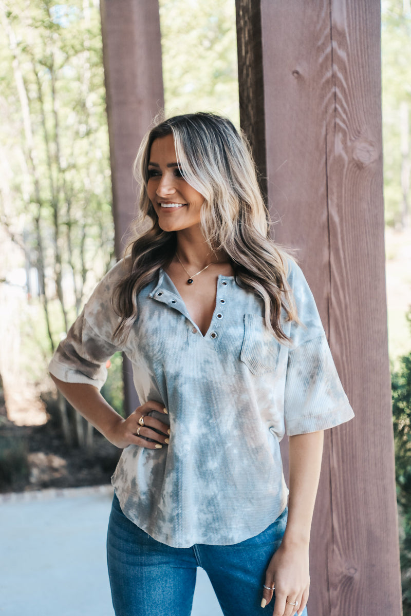 Tie Dye Wash Knit Top