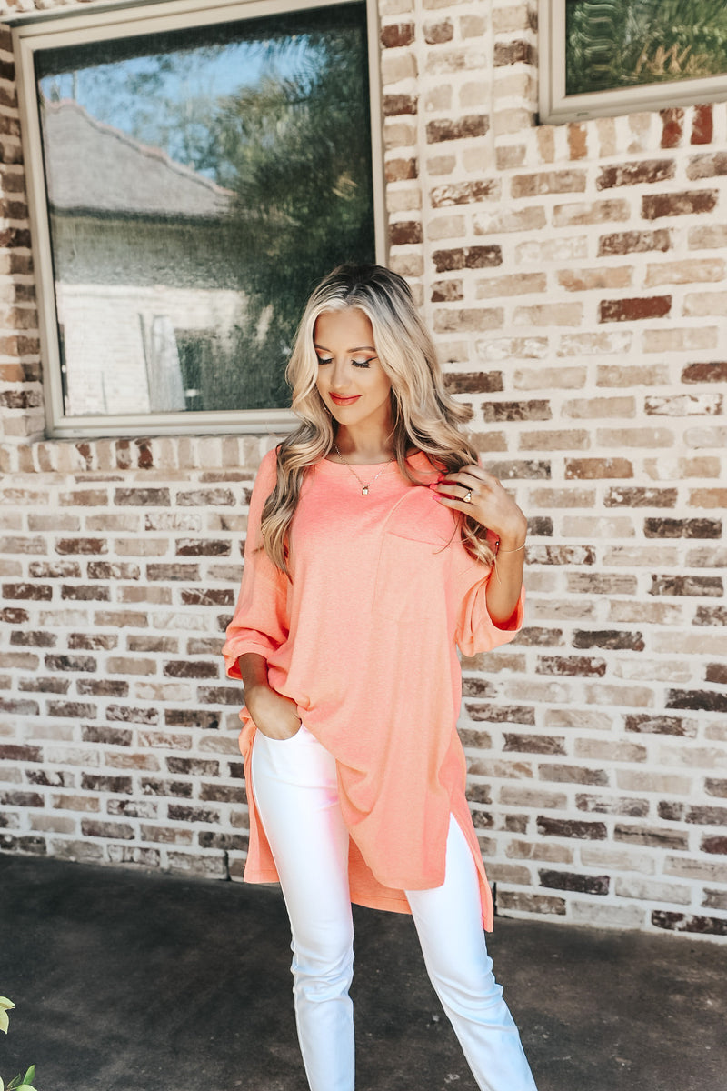 Oversized Slub Knit Tee