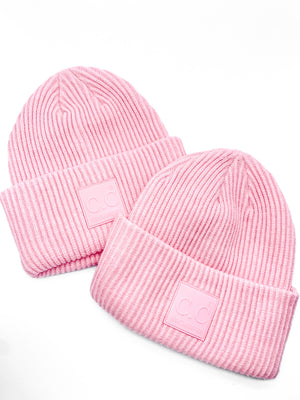 Pink Ribbed Beanie - Doorbuster