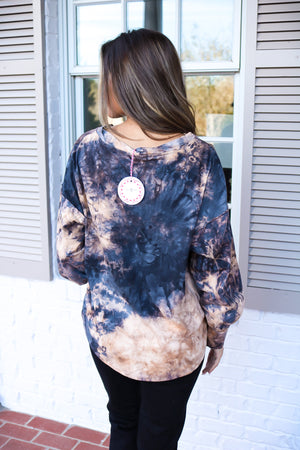 Gunmetal Mix Tie Dye Soft Top