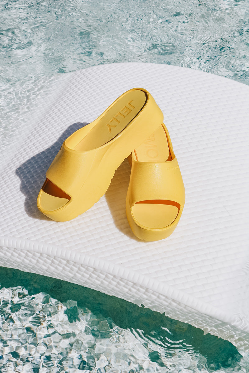 Lemon Jelly Vibrant Yellow Platform Slide