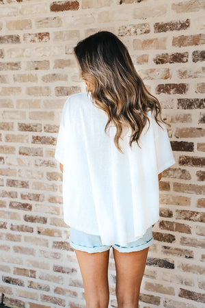 Oversized Swing High Low Tee