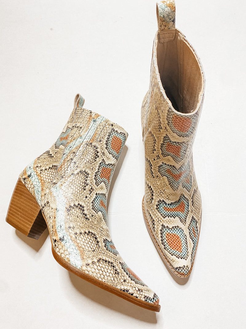 Matisse Multicolor Snake Boot