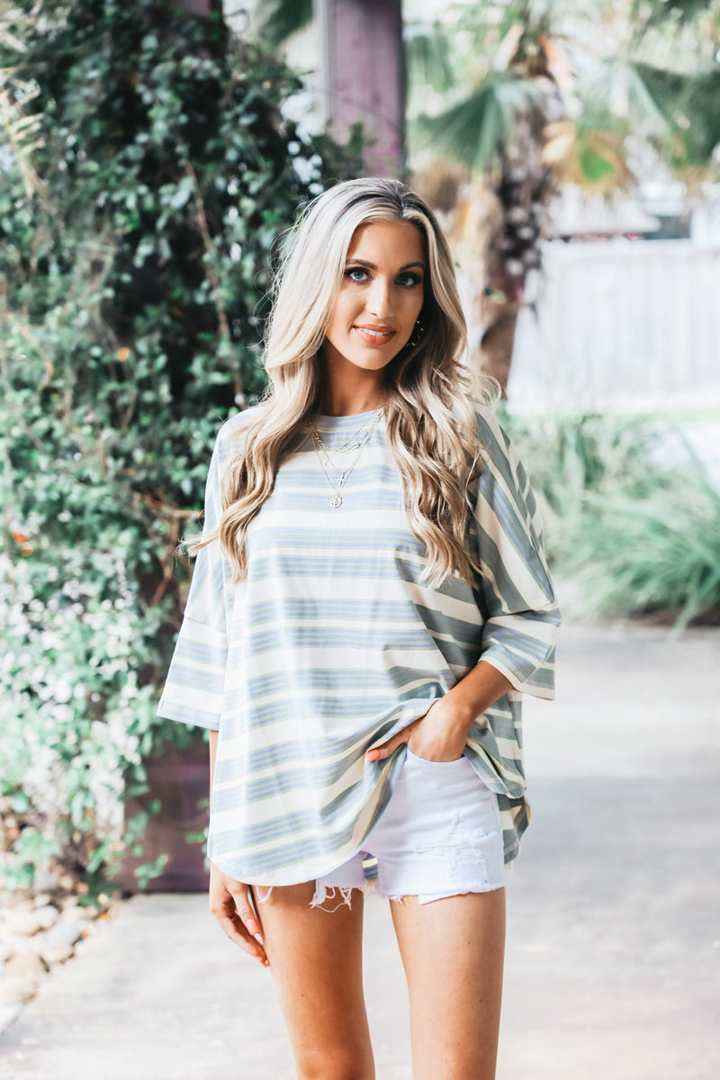 Oversized Cotton Striped Tee