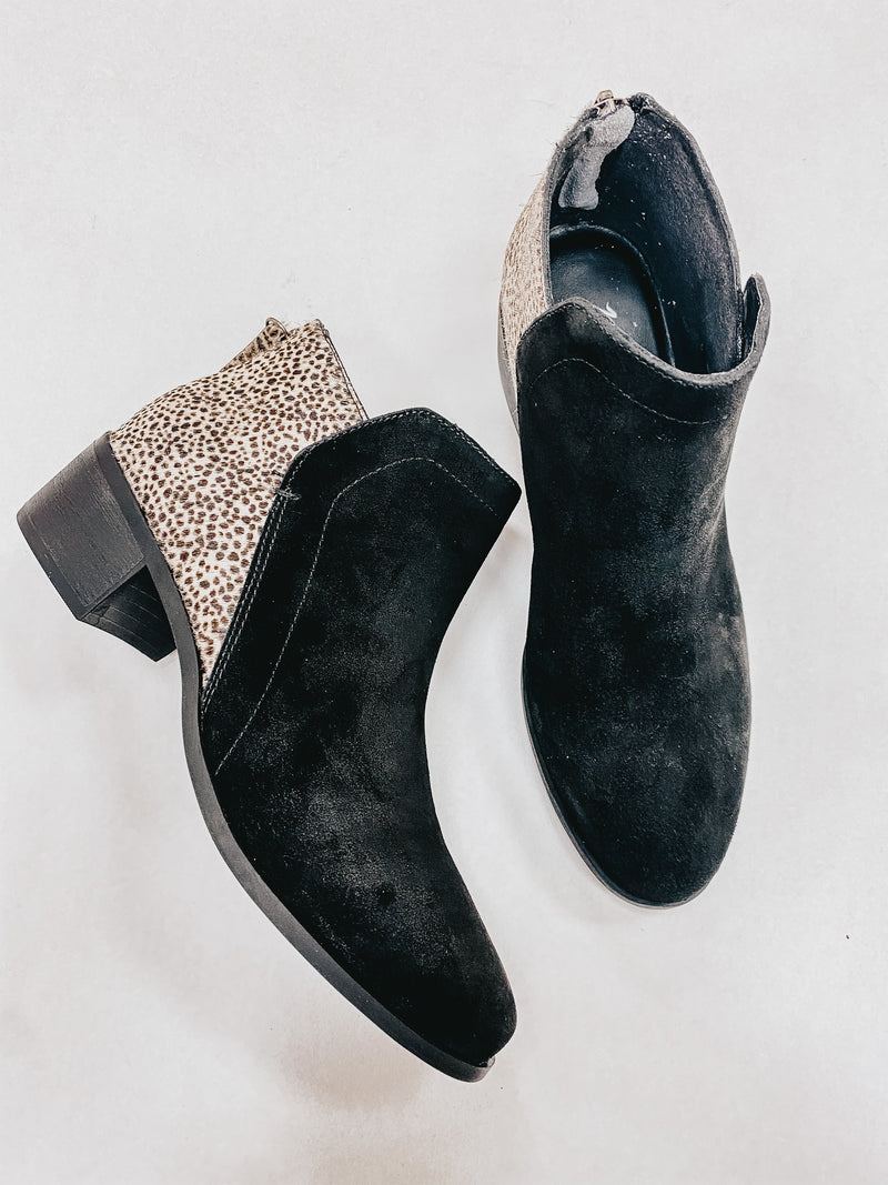 Matisse Two Tone Suede Spotted Bootie