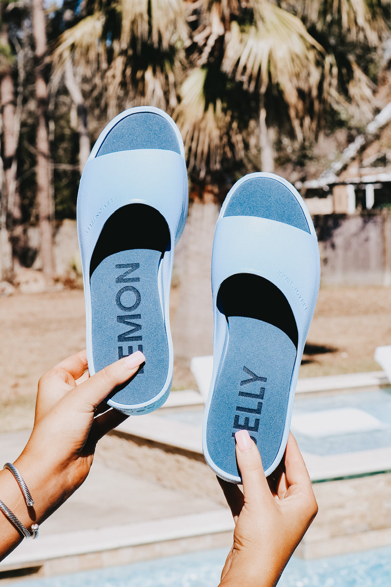 Lemon Jelly Baby Blue Platform Slide