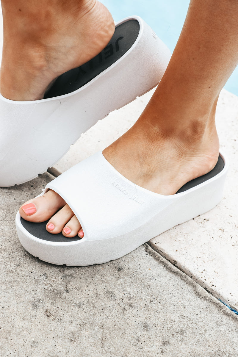Lemon Jelly White Platform Slide