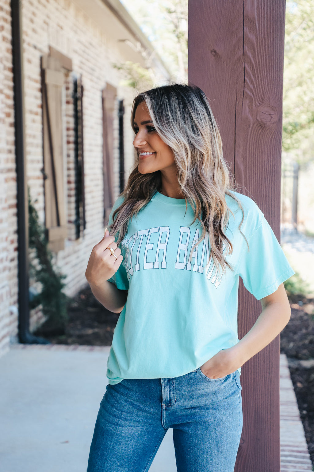 Mint Outer Banks Tee