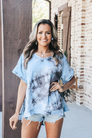 Tie Dye with Scoop Hem Tee