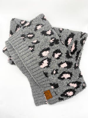 Blush and Grey Leopard Scarf - Doorbuster