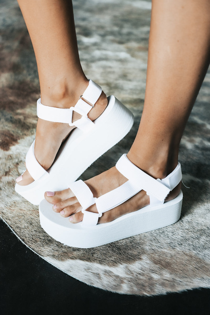 Adjustable Multi Strap Platform Sandal