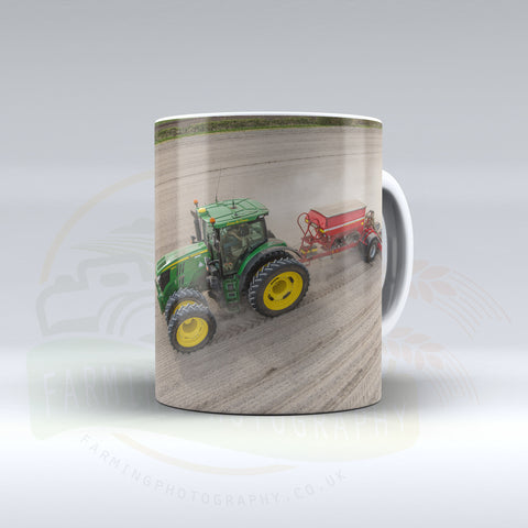John Deere Drilling Maize Ceramic Mug.