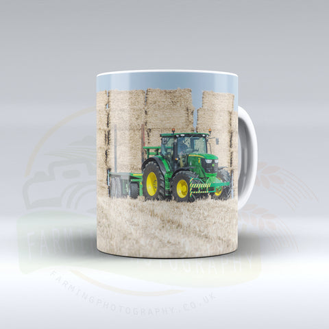 John Deere Stacking Bales Ceramic mug.
