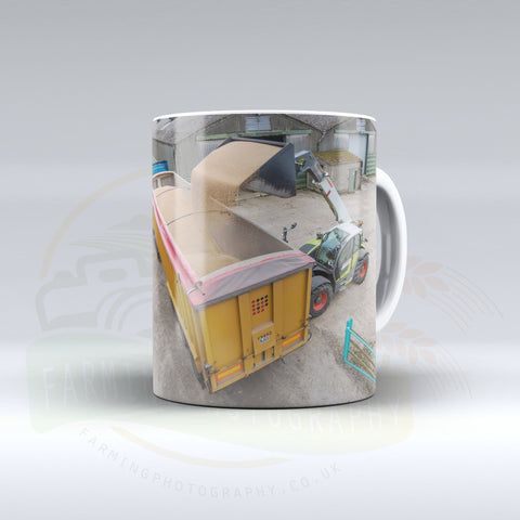 Claas Scorpion Ceramic mug.