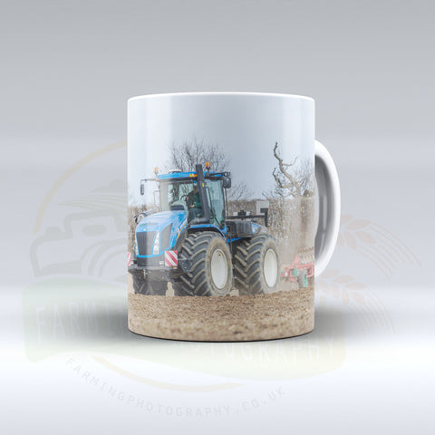New Holland T9 Ploughing Ceramic mug.