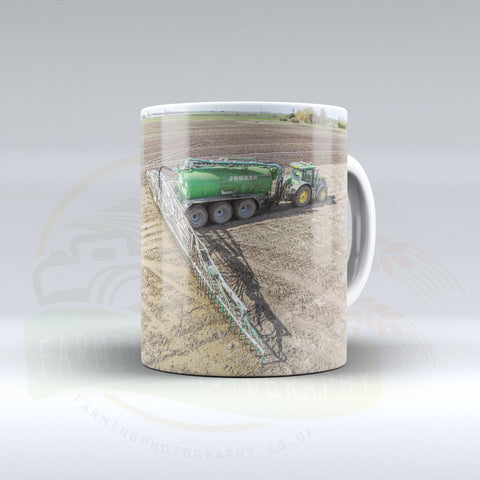 John Deere Slurry Spreading Ceramic mug.