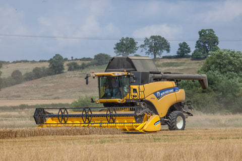 New Holland Combine Harvester Poster print