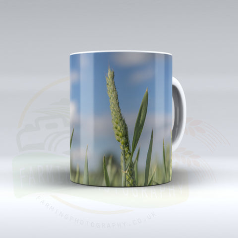 Wheat Ceramic mug.