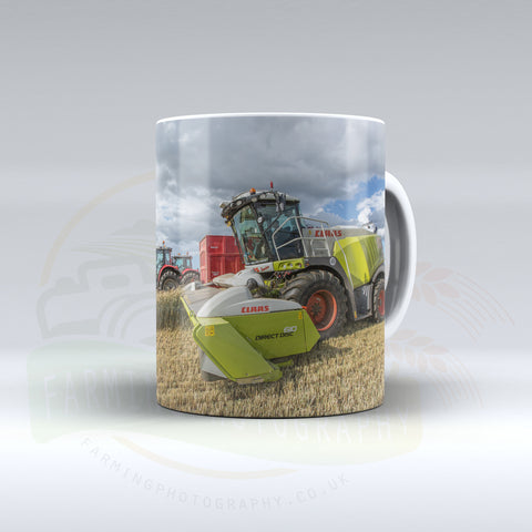 Claas Jaguar Ceramic mug.