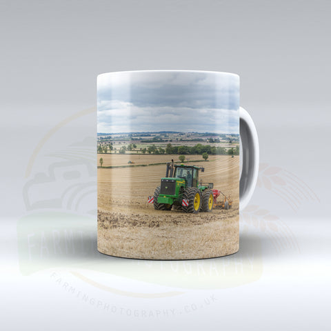 John Deere Articulated Tractor Ceramic mug.