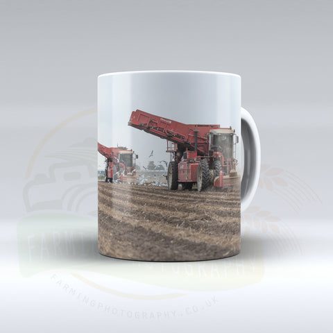 Dewulf Potato Harvesters Ceramic mug.