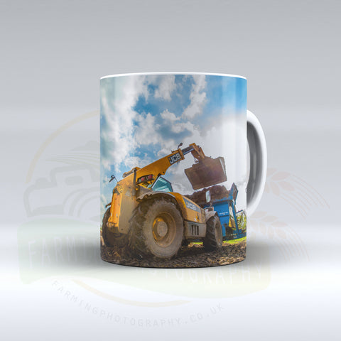 JCB Loadall Ceramic mug.
