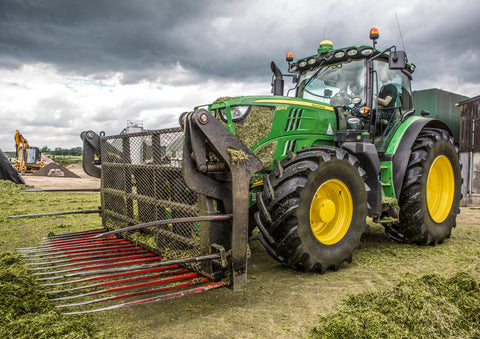 John Deere On The Silage Clamp Poster print