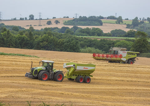 Class Xerion 5000 and Claas Lexion Poster print