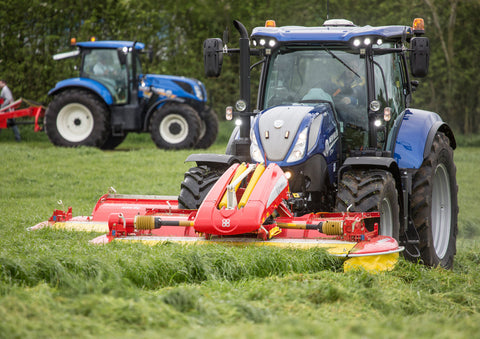 New Holland Blue Power Mowing Poster print
