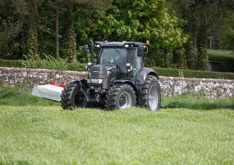 Case IH Puma Grey Edition Mowing Poster print