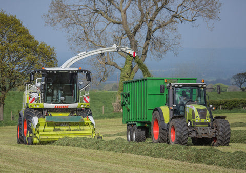 Claas Equipment Silaging Poster print