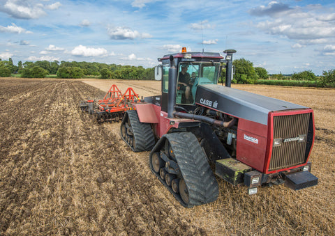 Case IH Quadtrac Cultivating Poster print