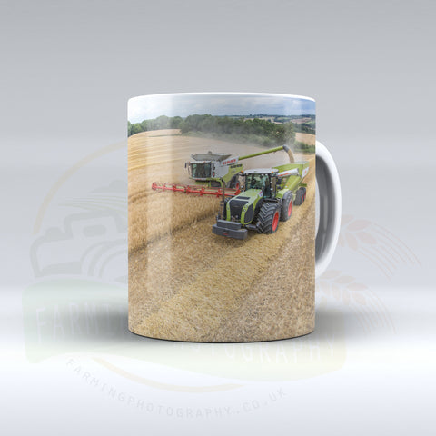 Claas 5000 Xerion and Claas combine Ceramic mug
