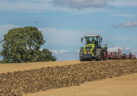 Claas Xerion 4000 Cultivating Poster print