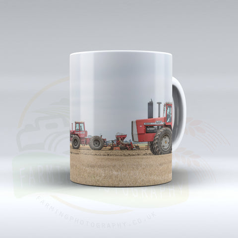 Massey Ferguson 4840 and 1505 Working Together Ceramic Mug
