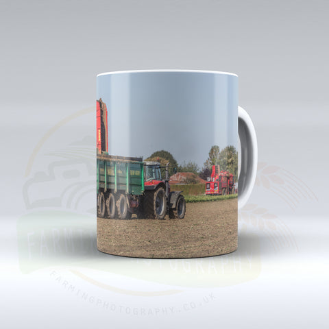 Sugar Beet Harvesting Ceramic Mug