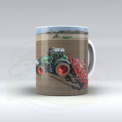 Challenger and Fendt Tractors Drilling Sugarbeet Ceramic Mug