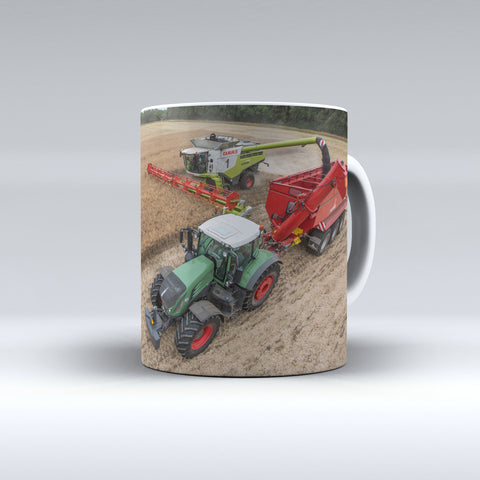 Claas Lexion 780TT Combine With Fendt 939 Vario And Annaburger Chaser BinCeramic Mug