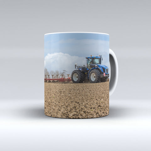 New Holland T9 Ploughing Ceramic Mug
