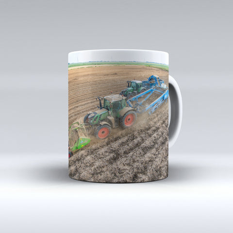 Fendt Tractors Harvesting Potatoes Ceramic Mug