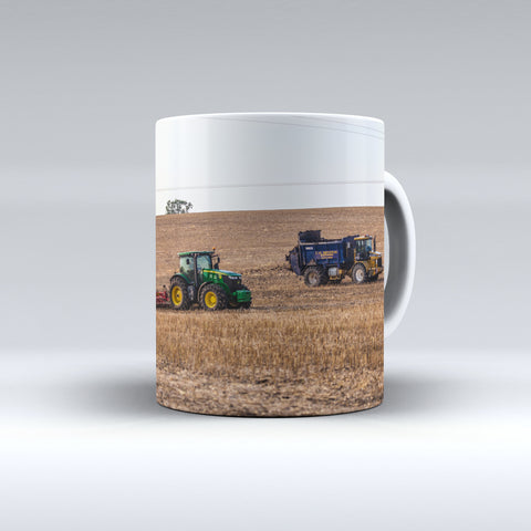 John Deere Cultivating and Challenger Terragtor Ceramic Mug